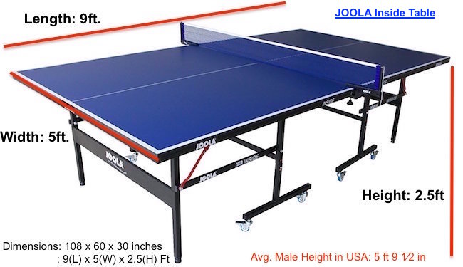 Incroyable Dimension Best Ping Pong Table